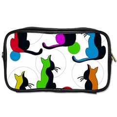 Colorful abstract cats Toiletries Bags 2-Side