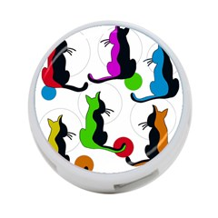 Colorful abstract cats 4-Port USB Hub (One Side)