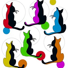 Colorful abstract cats Magic Photo Cubes