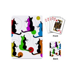 Colorful abstract cats Playing Cards (Mini)