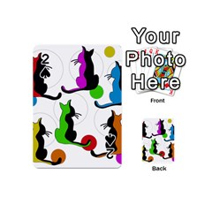 Colorful abstract cats Playing Cards 54 (Mini)