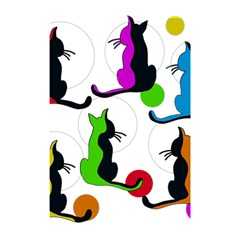 Colorful abstract cats Shower Curtain 48  x 72  (Small)