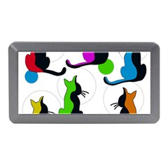 Colorful abstract cats Memory Card Reader (Mini)