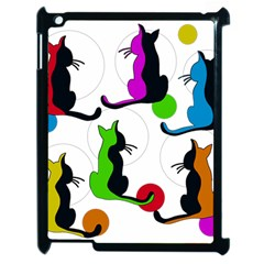 Colorful abstract cats Apple iPad 2 Case (Black)