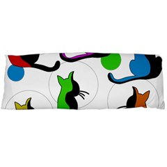 Colorful abstract cats Body Pillow Case Dakimakura (Two Sides)