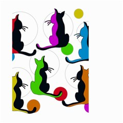 Colorful abstract cats Small Garden Flag (Two Sides)