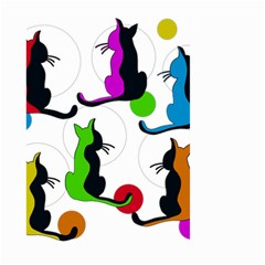 Colorful abstract cats Large Garden Flag (Two Sides)