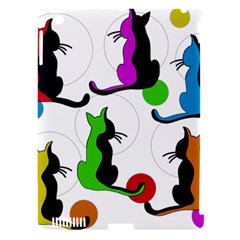 Colorful abstract cats Apple iPad 3/4 Hardshell Case (Compatible with Smart Cover)