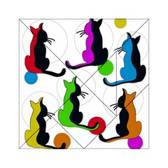 Colorful abstract cats Acrylic Tangram Puzzle (6  x 6 )