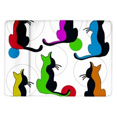 Colorful abstract cats Samsung Galaxy Tab 10.1  P7500 Flip Case