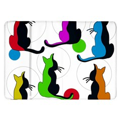 Colorful abstract cats Samsung Galaxy Tab 8.9  P7300 Flip Case