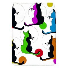Colorful abstract cats Flap Covers (S)