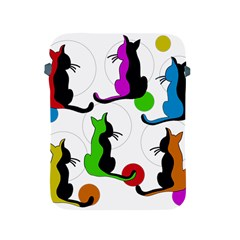 Colorful abstract cats Apple iPad 2/3/4 Protective Soft Cases