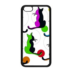 Colorful abstract cats Apple iPhone 5C Seamless Case (Black)