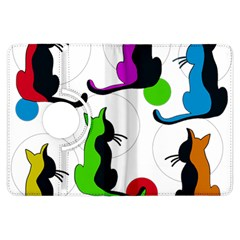 Colorful abstract cats Kindle Fire HDX Flip 360 Case