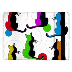 Colorful abstract cats Samsung Galaxy Tab Pro 12.2  Flip Case
