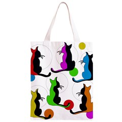 Colorful abstract cats Classic Light Tote Bag