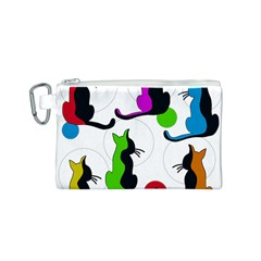 Colorful abstract cats Canvas Cosmetic Bag (S)