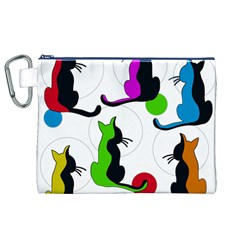 Colorful abstract cats Canvas Cosmetic Bag (XL)