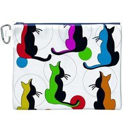 Colorful abstract cats Canvas Cosmetic Bag (XXXL)