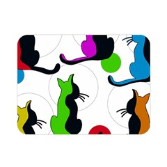 Colorful abstract cats Double Sided Flano Blanket (Mini)