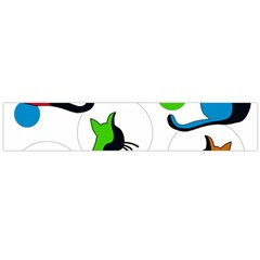 Colorful abstract cats Flano Scarf (Large)