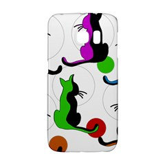 Colorful abstract cats Galaxy S6 Edge