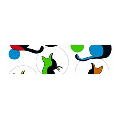 Colorful abstract cats Satin Scarf (Oblong)