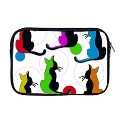 Colorful Abstract Cats Apple Macbook Pro 17  Zipper Case