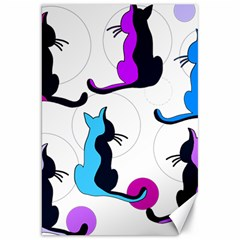 Purple abstract cats Canvas 20  x 30