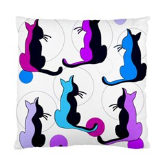 Purple abstract cats Standard Cushion Case (Two Sides)
