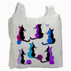 Purple abstract cats Recycle Bag (One Side)