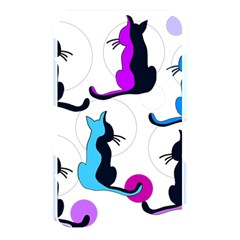 Purple abstract cats Memory Card Reader