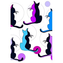 Purple abstract cats 5.5  x 8.5  Notebooks