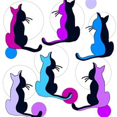 Purple abstract cats Magic Photo Cubes