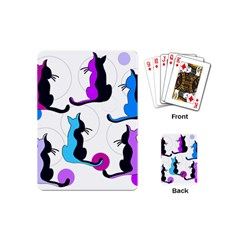 Purple abstract cats Playing Cards (Mini)