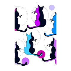 Purple abstract cats Shower Curtain 48  x 72  (Small)