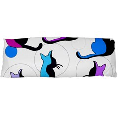 Purple abstract cats Body Pillow Case Dakimakura (Two Sides)