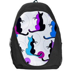 Purple abstract cats Backpack Bag