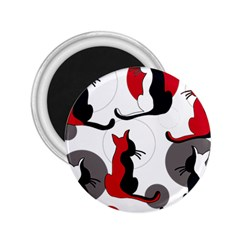 Elegant abstract cats  2.25  Magnets
