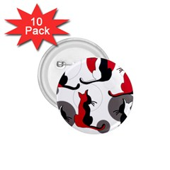 Elegant abstract cats  1.75  Buttons (10 pack)