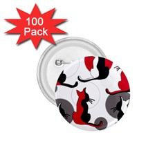 Elegant abstract cats  1.75  Buttons (100 pack)