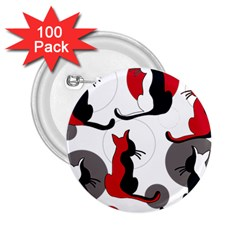 Elegant abstract cats  2.25  Buttons (100 pack)