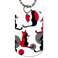 Elegant abstract cats  Dog Tag (Two Sides)