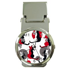 Elegant abstract cats  Money Clip Watches