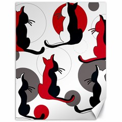 Elegant abstract cats  Canvas 18  x 24