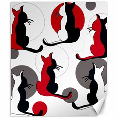 Elegant abstract cats  Canvas 20  x 24
