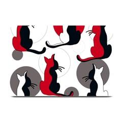 Elegant abstract cats  Plate Mats