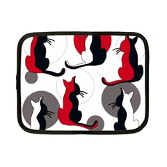 Elegant abstract cats  Netbook Case (Small)