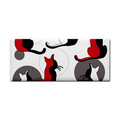 Elegant abstract cats  Cosmetic Storage Cases